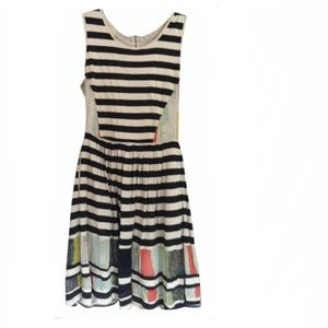 Anthropology multi color dress